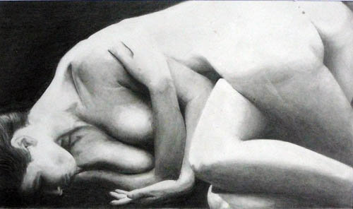 """Nude Illusions"" pencil on paper 2003"